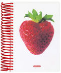 Herlitz Spiral Pad A6 World Of Fruit Strawberry 10927317
