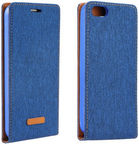 Forcell Canvas Flexi Vertical Book Case For Apple iPhone 5/5s/SE Blue