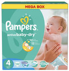 Pampers Active Baby-Dry S4 132