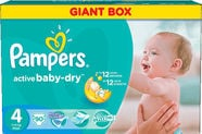 Pampers Active Baby-Dry S4 90