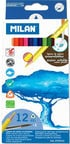 Milan Water Soluble Coloured Pencils 12pcs 742312