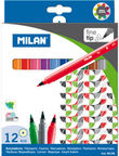 Milan Fine Tipped Fribrepens 12pcs 80158