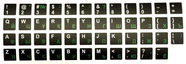 HQ Keyboard Stickers ENG/RUS White/Green/Black