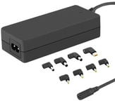 Qoltec 50011 Universal 65W AC Automatic Notebook Charger With 8 Plugs