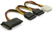 Delock Cable 4pin IDE to SATA x3