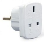 Gembird Adapter UK Socket to Schuko White