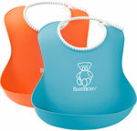 BabyBjorn Soft Bib 2-Pack Orange/Turquoise