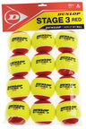 Dunlop Stage 3 Tennis Balls 12pcs