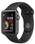 Apple Watch S1 38mm Aluminum Case Sport Band Black