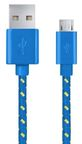 Esperanza Braided Cable USB / USB-micro Blue 1m