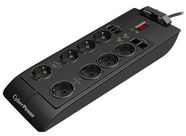 Cyber Power Surge Protector 8 Outlet Black 2.4m
