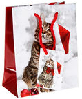 Verners Gift Bag Christmas Cat 389700