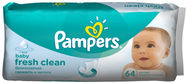 Pampers Fresh Clean Wipes 64pcs