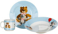 Banquet Teddy Tableware Set 3pcs Blue