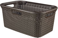 Curver Rattan Laundry Basket 45l Brown