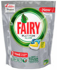 Fairy Dishwashing Tablets All In One Platinum Lemon 37pcs