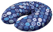 Ceba Baby Feeding Pillow Mini Jersey Circles Blue