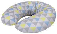 Ceba Baby Feeding Pillow Mini Jersey Triangle Blue/Yellow