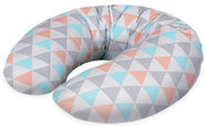 Ceba Baby Feeding Pillow Mini Jersey Triangle Turquoise/Orange