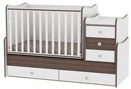 Bertoni Lorelli Bed MAXI PLUS White/Walnut