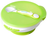 Kidsme Suction Bowl Set With Spoon Lime