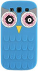 Forcell Soft 3D Owl Back Case For Samsung Galaxy A3 A310F Blue