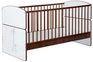 Klups Bed Bartek II SAFARI Giraffe Cream/Walnut
