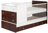 Klups Kompakt Cot-Bed Ecru/Walnut