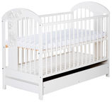Klups Radek VII Cot With Drawer White