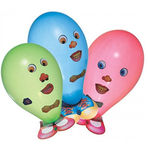 Susy Card Party Funny Faces Balloons 6pcs