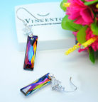 Vincento Earrings with Swarovski Elements Queen Baguette VE-2147