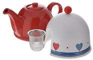 Mayer & Boch Teapot with Cap and Strainer 0.8l Red