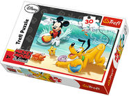 Trefl Puzzle Disney Mickey And Pluto At The Beach 30pcs 18207