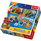 Trefl 4-in-1 Puzzle Blaze & The Monster Machines 35/48/54/70pcs 34267