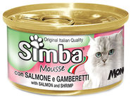 Monge Simba Mousse With Salmon & Shrimp 85g