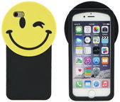 Forcell Soft 3D Smile Back Case For Apple iPhone 7 Black/Yellow