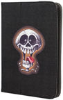 "GreenGo Universal Book Case With Stand 9-10"" Crazy Skull 2"
