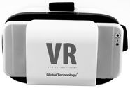 Global Technology 3D Universal Virtual Reality Glasses 3.5-6''  White