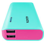 A-Data PT100 Power Bank 10000mAh Tiffany Blue/ Pink