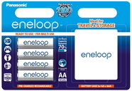 Panasonic Eneloop Rechargeable Batteries + Case 4x AA 1900mAh