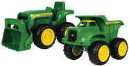 "Tomy John Deere 6"" Sandbox Vehicle 2-Pack 35874"