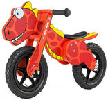 Milly Mally Dino Balance Bike Red 2923
