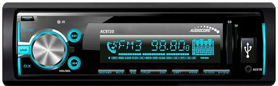 RDS//SD con Auto AUX IN e vivavoce bluetooth Autoradio con MP3 AC9720/B Audiocore WMA//USB