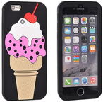 Forcell Ice Cream With Cherry 3D Back Case For Samsung Galaxy A3 A320F Black
