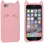 Forcell Cat 3D Back Case For Samsung Galaxy A3 A320F Pink