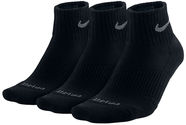 Nike Dry Fit Half Cushion Quarter 3 Pack Black 34-38