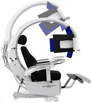 Emperor WhiteKrēsli Gaming Mwe Lab Monitori Xt Chair f7gy6Yb