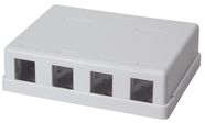 LogiLink Keystone Surface Mounted Box 4-port UTP White