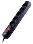 Tracer Power Surge Protector 5 Outlet Black 3m