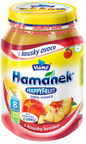 Hamanek HAPPY FRUIT Apple & Peach Puree With Peaces 190g